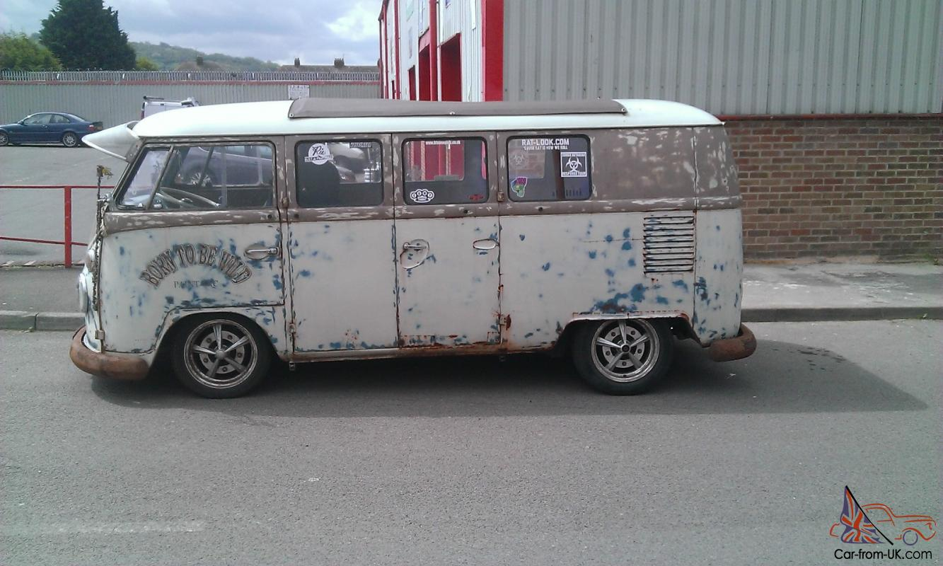 VW volkswagen camper van split screen ratlook air ride