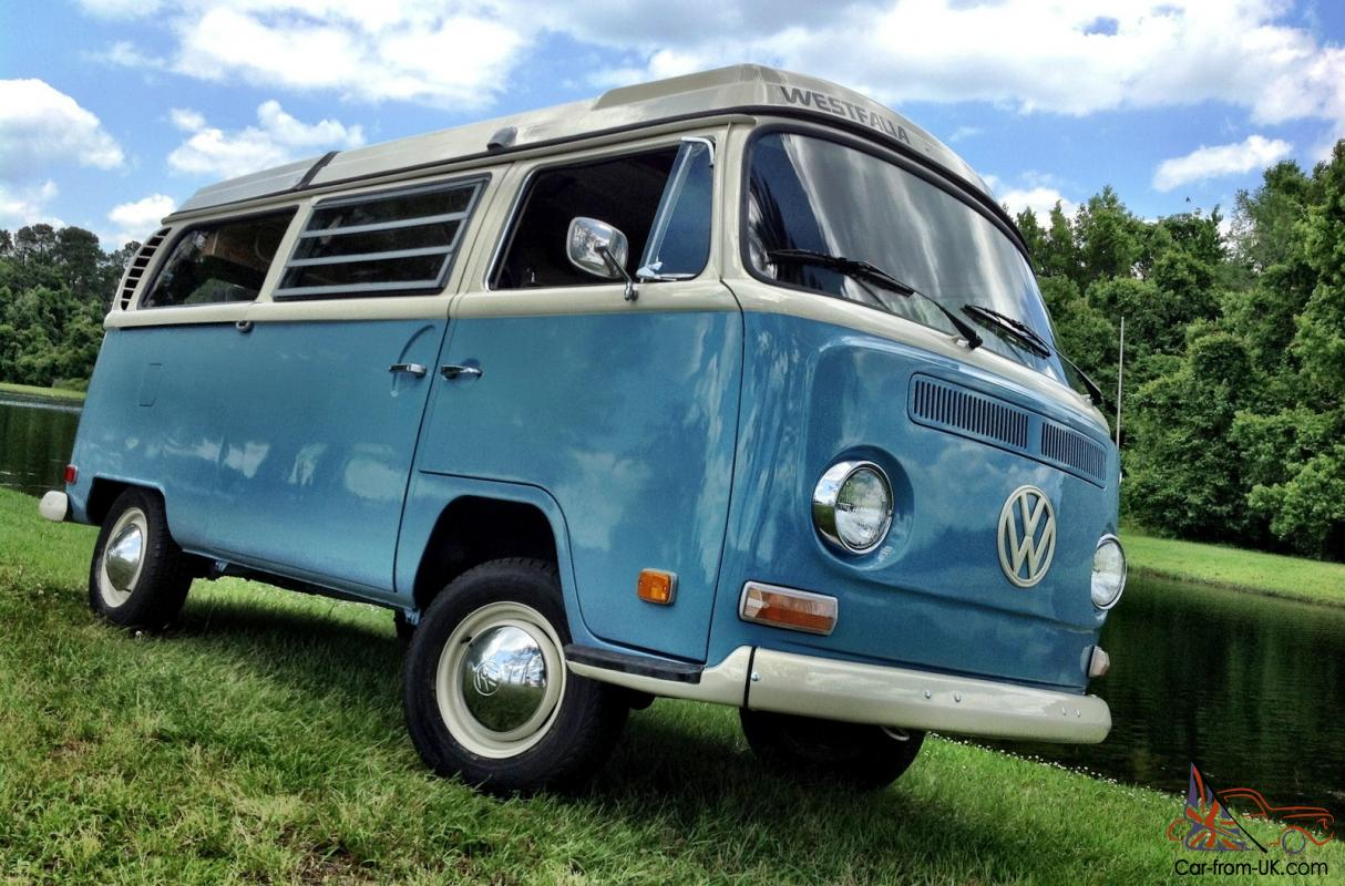 70 Vw Bus Camper Westfalia Campmobile Pop Top Bay Window