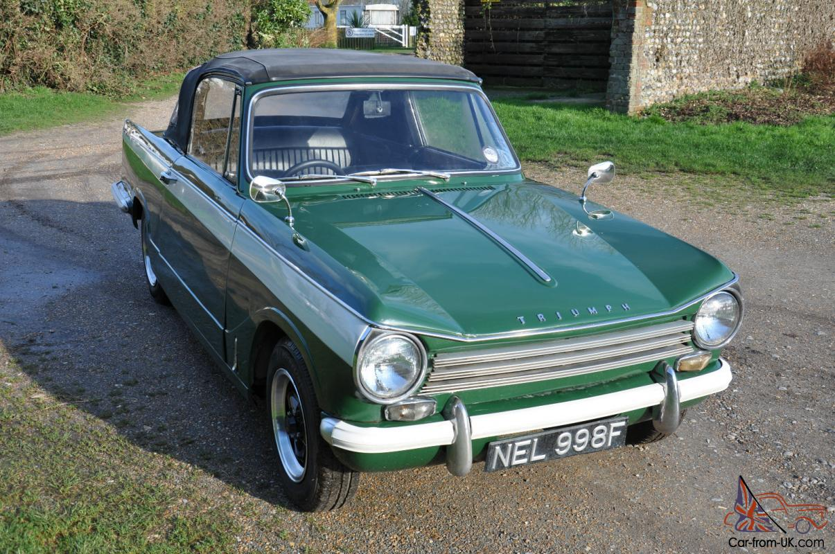 Triumph Herald 13 60 Convertable 1968 Low Miles Tax