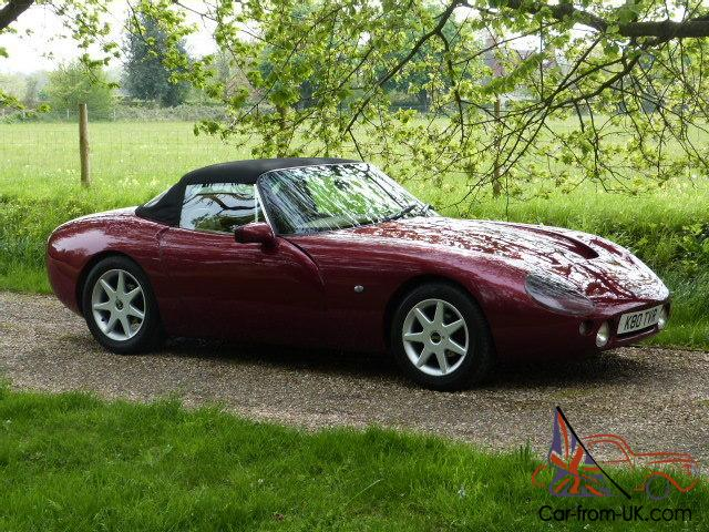 1992 tvr griffith 400 rioja red magnolia leather 41000 miles fsh. Black Bedroom Furniture Sets. Home Design Ideas