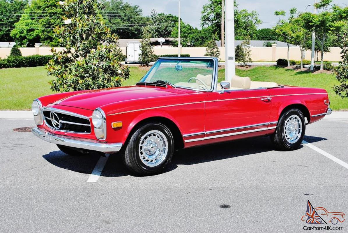 simply amazing restored 1969 mercedes benz 280sl convertible one great sl benz. Black Bedroom Furniture Sets. Home Design Ideas