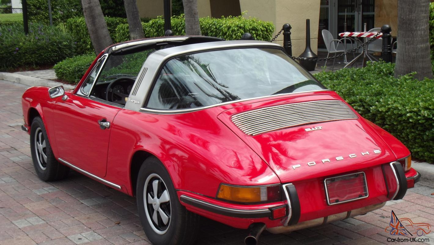1971 porsche 911 t targa red with black excellent condition superb car. Black Bedroom Furniture Sets. Home Design Ideas