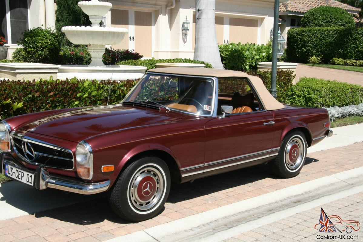280 sl 1970 restored beauty exceptional condition 4 speed manual 2 tops a c. Black Bedroom Furniture Sets. Home Design Ideas