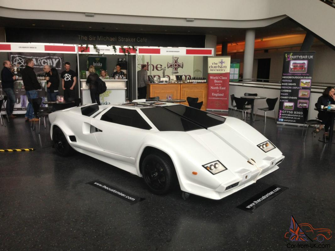 Lamborghini Replica Countach By The Customiser Mobile Bar White Ebay