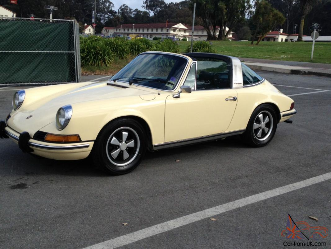 1973 porsche 911 911t targa t e ivory white factory a c. Black Bedroom Furniture Sets. Home Design Ideas
