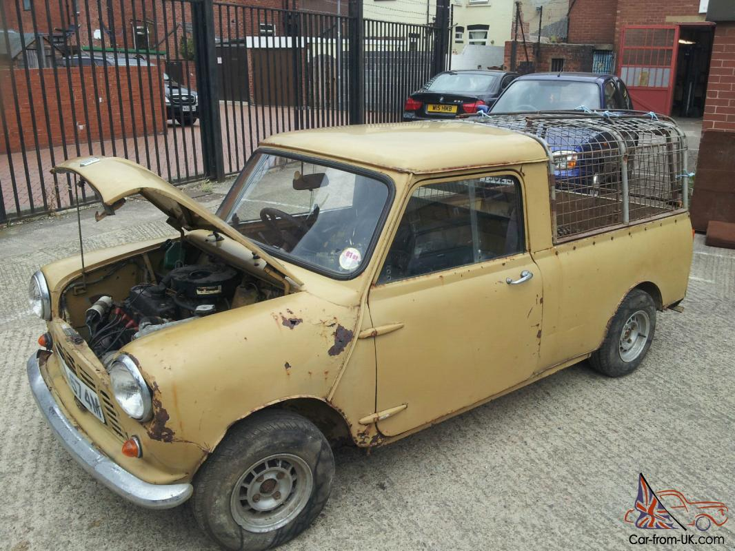 Original Morris Mini Pickup Classic Mini Barn Find Restoration