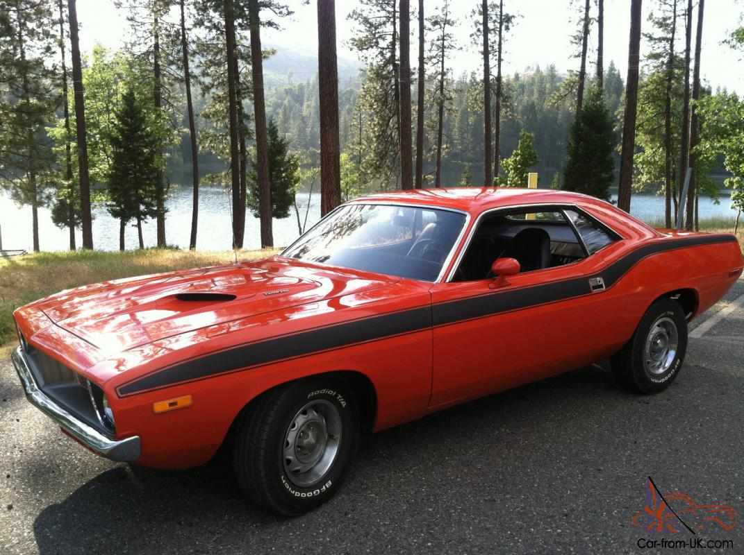 72 PLYMOUTH BARRACUDA CUDA 340 FOUR SPEED HEMI ORANGE Completely ...