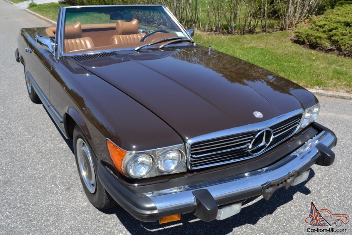 1974 one owner mercedes 450sl with 44399 original miles. Black Bedroom Furniture Sets. Home Design Ideas
