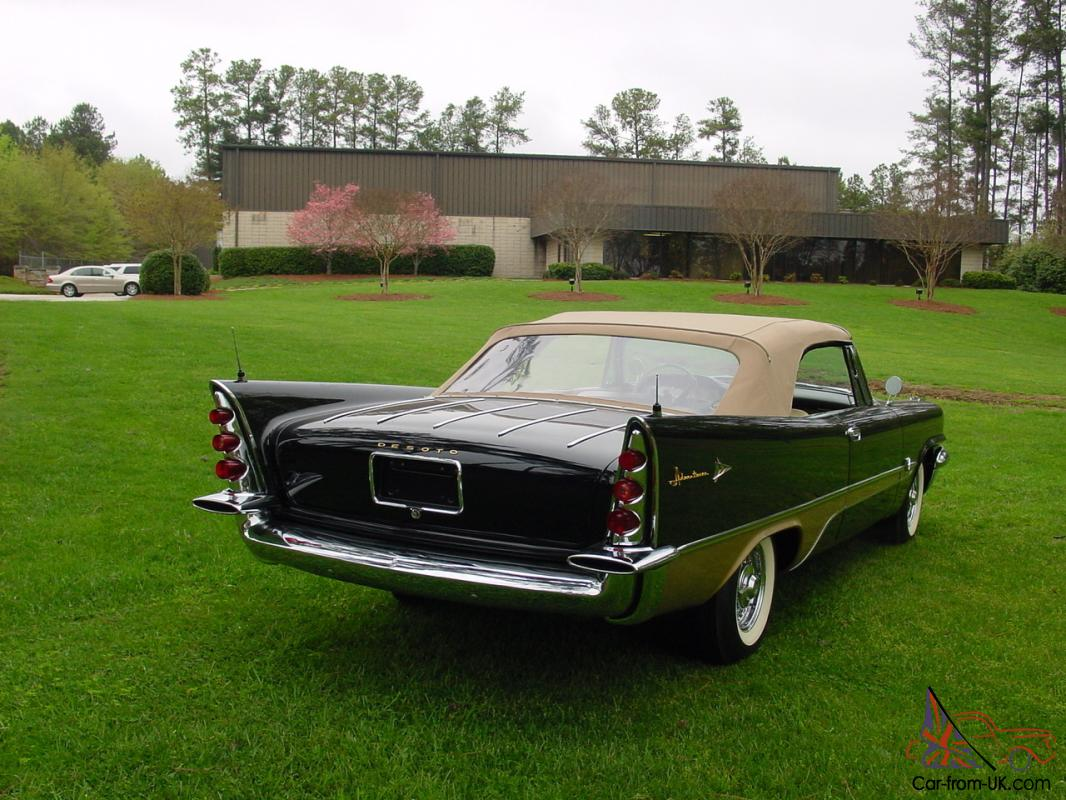 This stunning restored desoto fireflight convertible is a well known