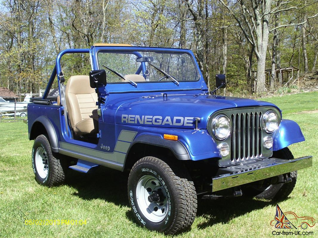 1984 jeep cj7 renegade 91 430 original miles complete. Black Bedroom Furniture Sets. Home Design Ideas