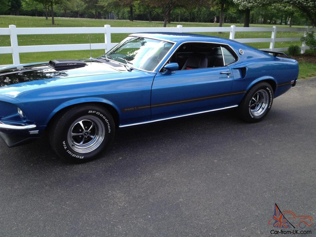 1969 Mustang Mach 1 428 Cobra Jet Ford Shelby
