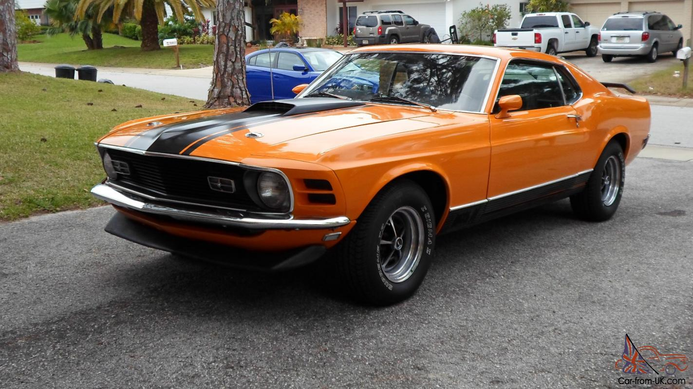 1970 ford mustang mach 1 fastback grabber orange 351 v8 photo
