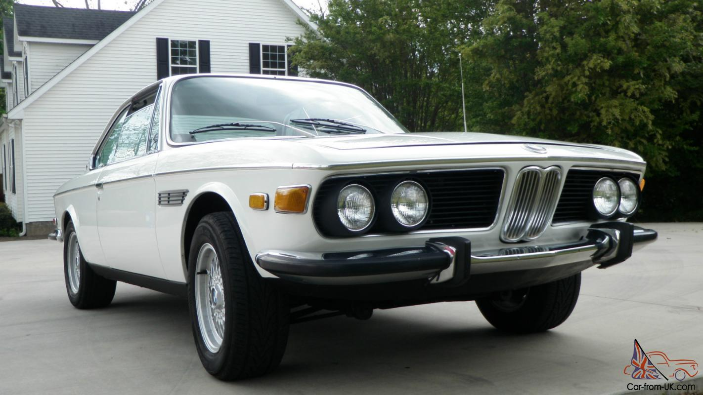 1971 bmw 2800 cs with 3 5l fuel injected engine and 5 speed. Black Bedroom Furniture Sets. Home Design Ideas