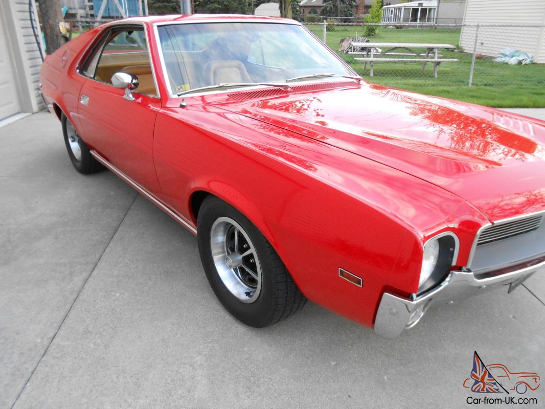 1969 Amx 2 Seater 343 Cid V8 4 Speed Guards Red
