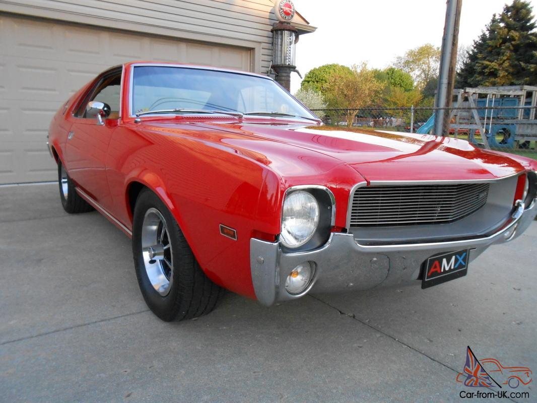 1969 Amx 2 Seater 343 Cid V8 4 Speed Guards Red Loaded Reserve Lowered