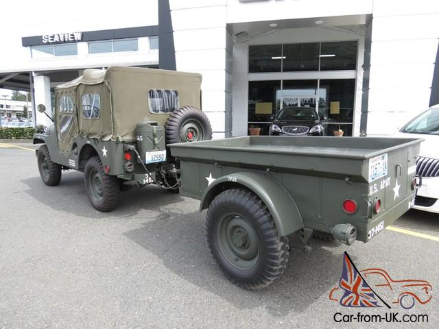1956 M38a1 Cdn3 Military Jeep With Matching 1952 M100