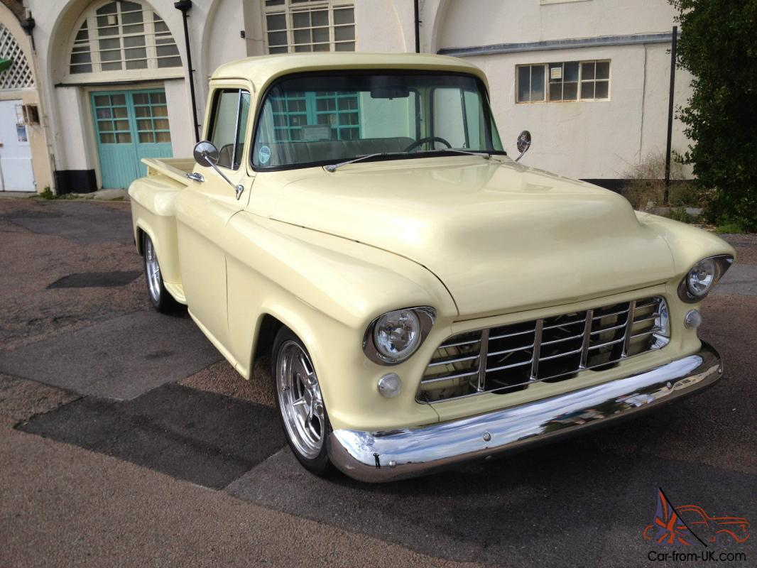 Hotrod stunning 1955 chevy stepside pickup signed by billy gibbons zz top band