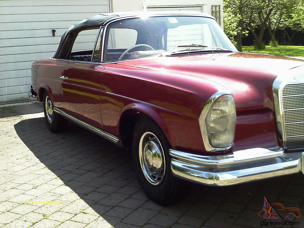 Mercedes 220se convertible 1965 right hand drive for 1965 mercedes benz 220se for sale