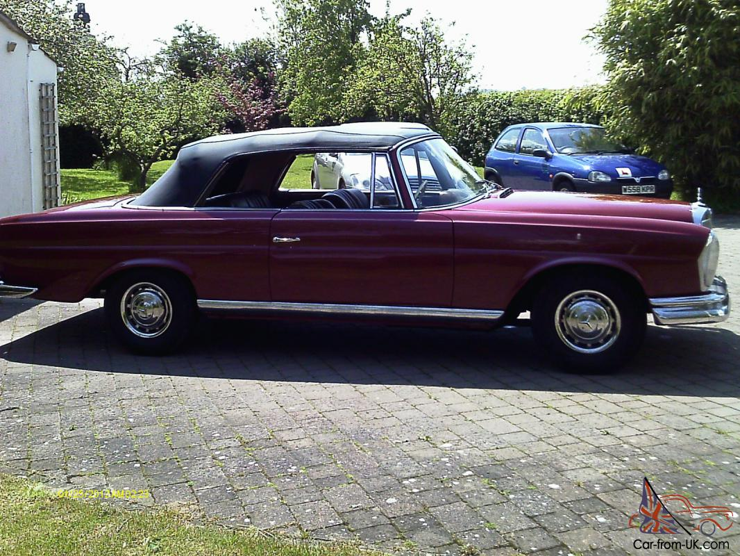 mercedes 220se convertible 1965 right hand drive. Black Bedroom Furniture Sets. Home Design Ideas