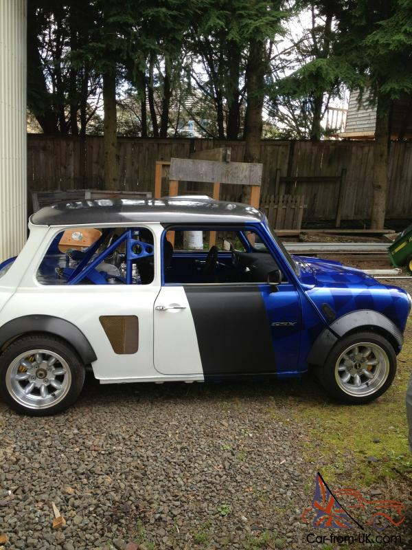 1973 austin mini gsxr 1000 race car amazing. Black Bedroom Furniture Sets. Home Design Ideas