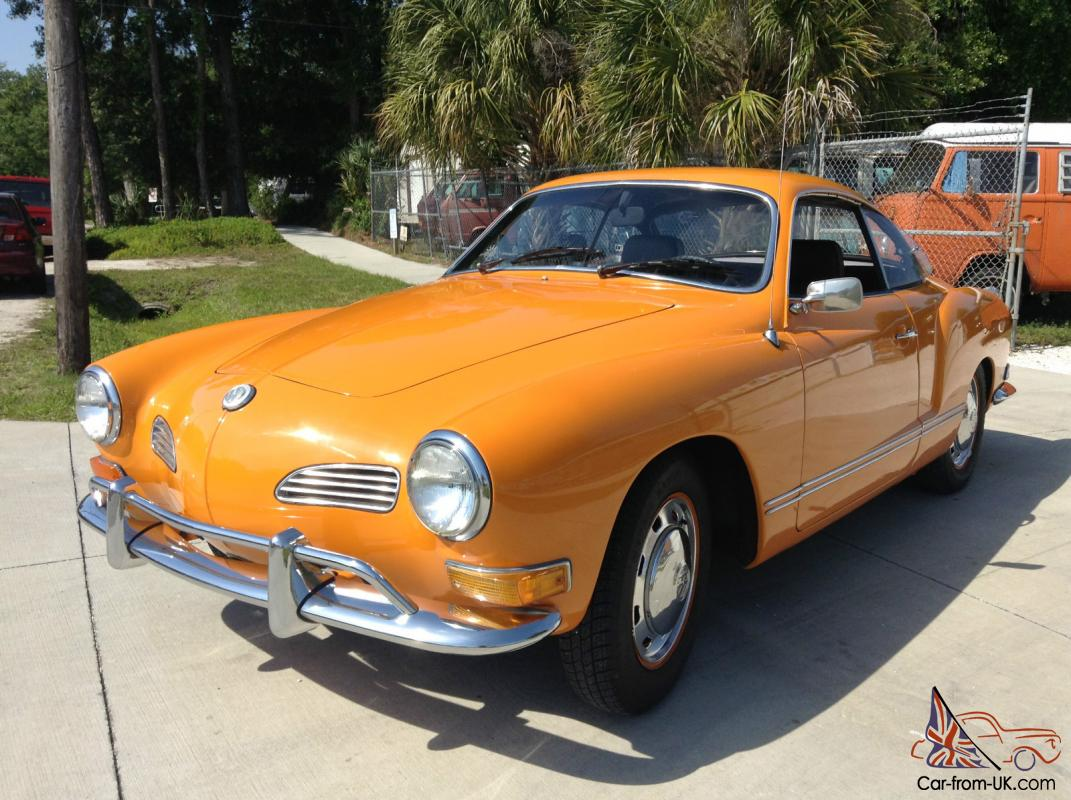 1971 Volkswagen Karmann Ghia. VW Ghia with 81,935 original ...