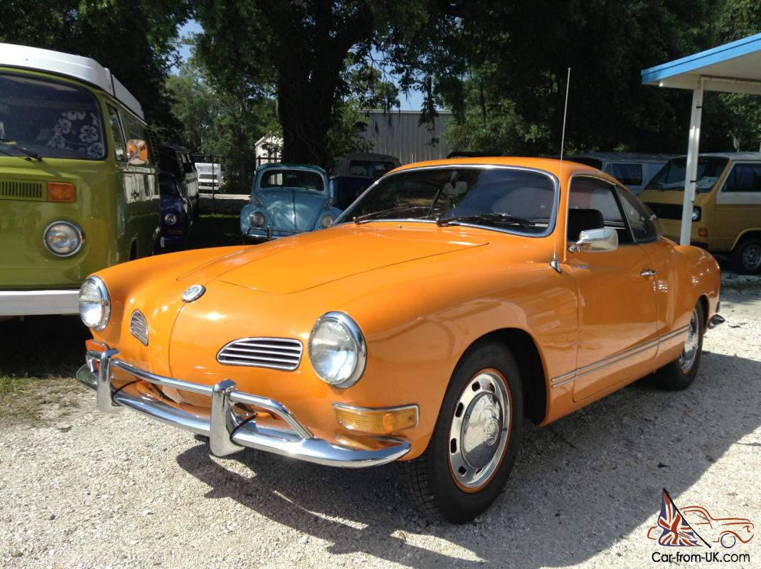 1971 volkswagen karmann ghia vw ghia with 81 935 original miles. Black Bedroom Furniture Sets. Home Design Ideas