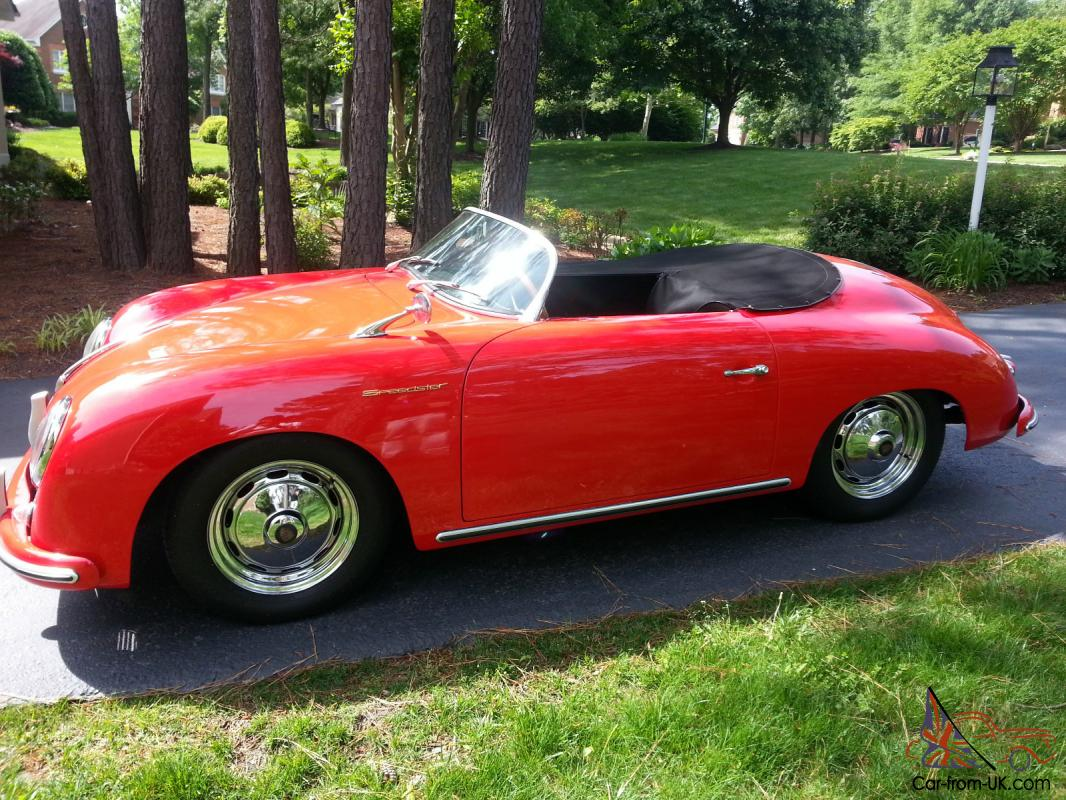 356 speedster cabriolet replica on 1979 porsche very nice red w black. Black Bedroom Furniture Sets. Home Design Ideas