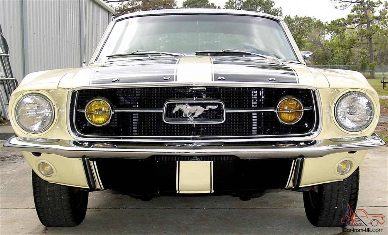 1967 ford mustang fastback k code gt 289 v8 auto very rare car beautiful. Black Bedroom Furniture Sets. Home Design Ideas
