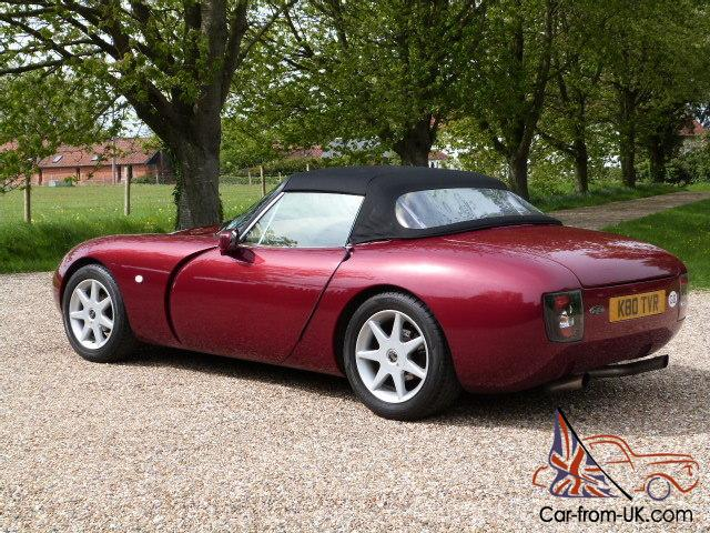 1992 tvr griffith 400 rioja red awesome performance 41000 miles fsh. Black Bedroom Furniture Sets. Home Design Ideas