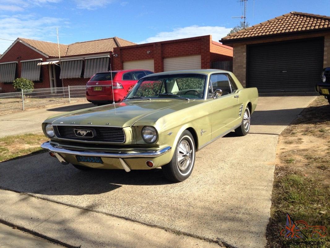 Ford Mustang 1966 Coupe C Code 289 V8 Auto Sauterne Gold Pony Interior