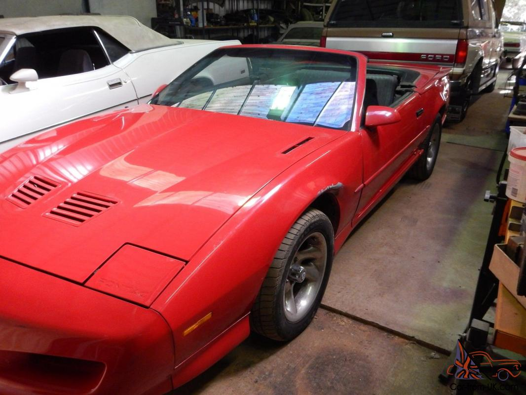 pontiac firebird trans am 1991 convertible not camaro. Black Bedroom Furniture Sets. Home Design Ideas