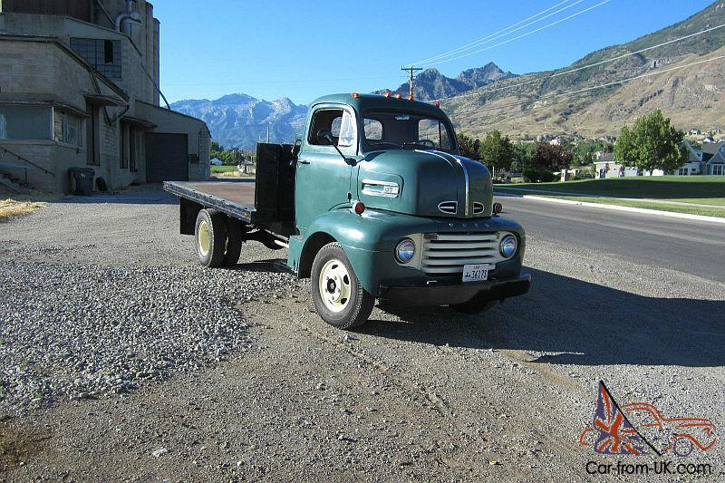 1948 Ford Cabover F6 V8 Flat Coe Excellent Condition F100