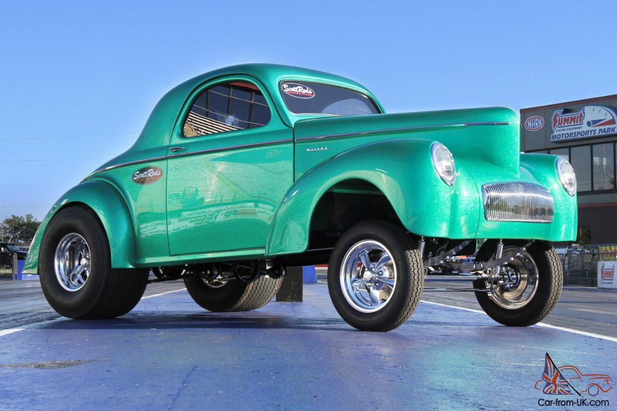 41 willys truck kit - Willys Custom 1941 Willys Gasser Style Coupe In Green Metal Flake Gel Coat