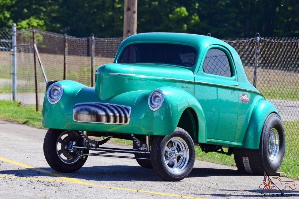 Willys Car: Willys : CUSTOM 1941 WILLYS GASSER STYLE COUPE IN GREEN
