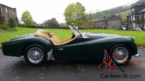 1961 Triumph Tr3 British Racing Green Chrome Wires Ex