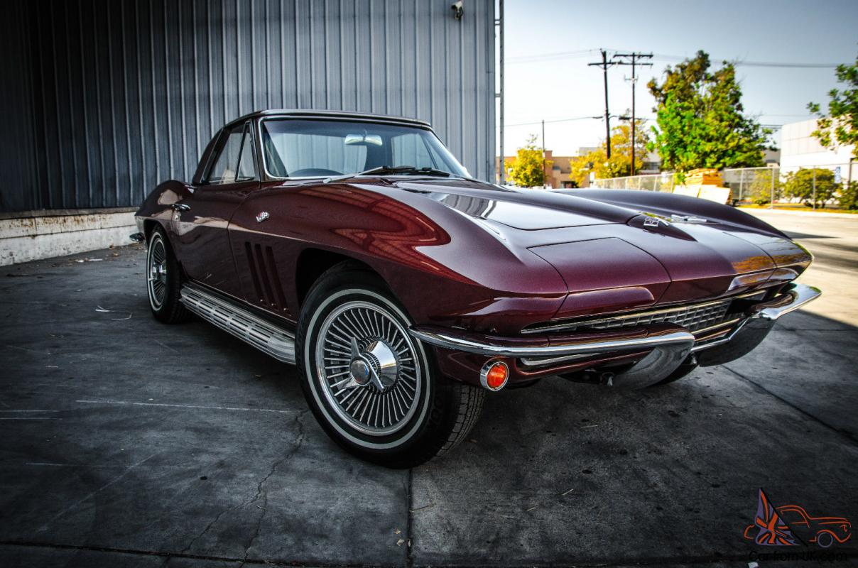 1966 chevy corvette sting ray convertible milano maroon. Black Bedroom Furniture Sets. Home Design Ideas