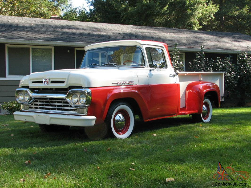Fords Answer To 1957 Chevy 3100 Short Bed Cool Truck 1955 Ford F100 Paint