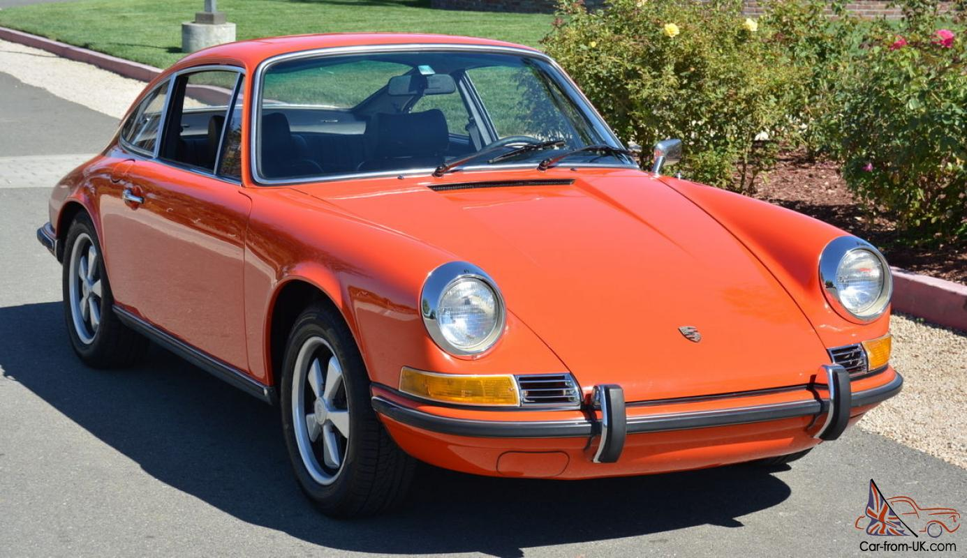 Excellent low mile tangerine sportomatic 911t coupe for Motor mile auto sales