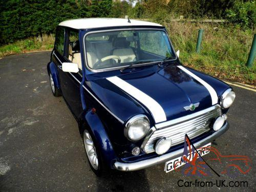 2000 rover mini cooper in tahiti blue and just 18 000 miles. Black Bedroom Furniture Sets. Home Design Ideas
