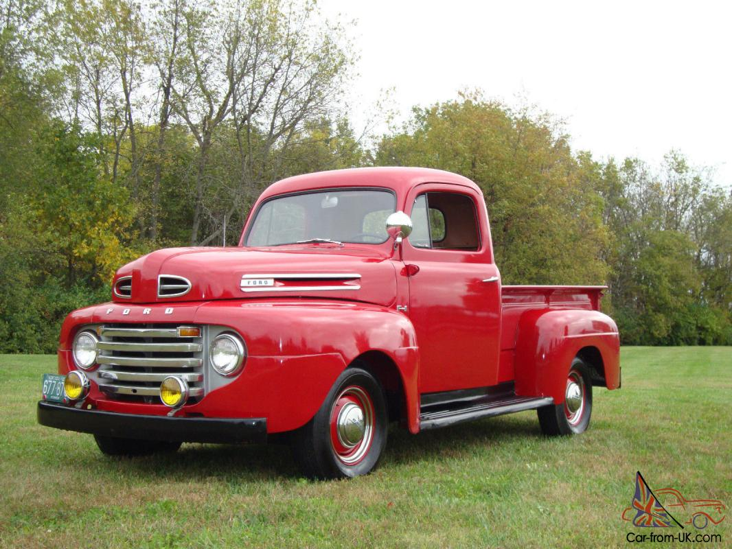 1950 ford pickup f1 restored red. Black Bedroom Furniture Sets. Home Design Ideas