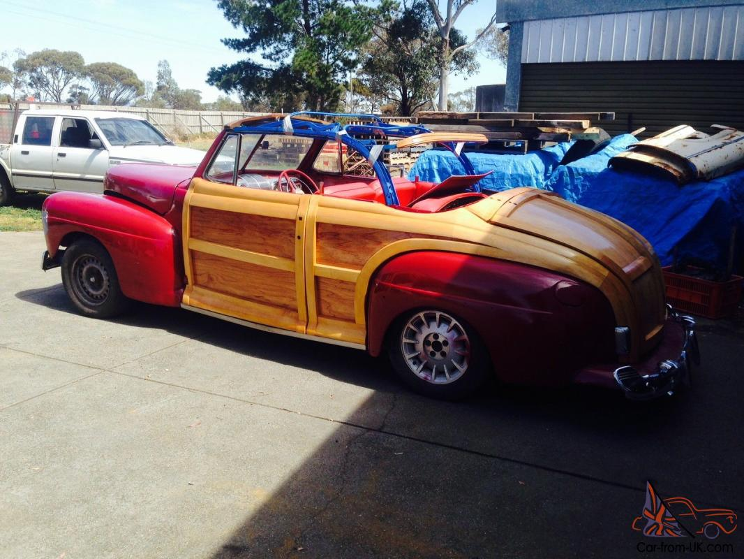 Hot Rod Barn : Ford convertible woody hot rod barn find