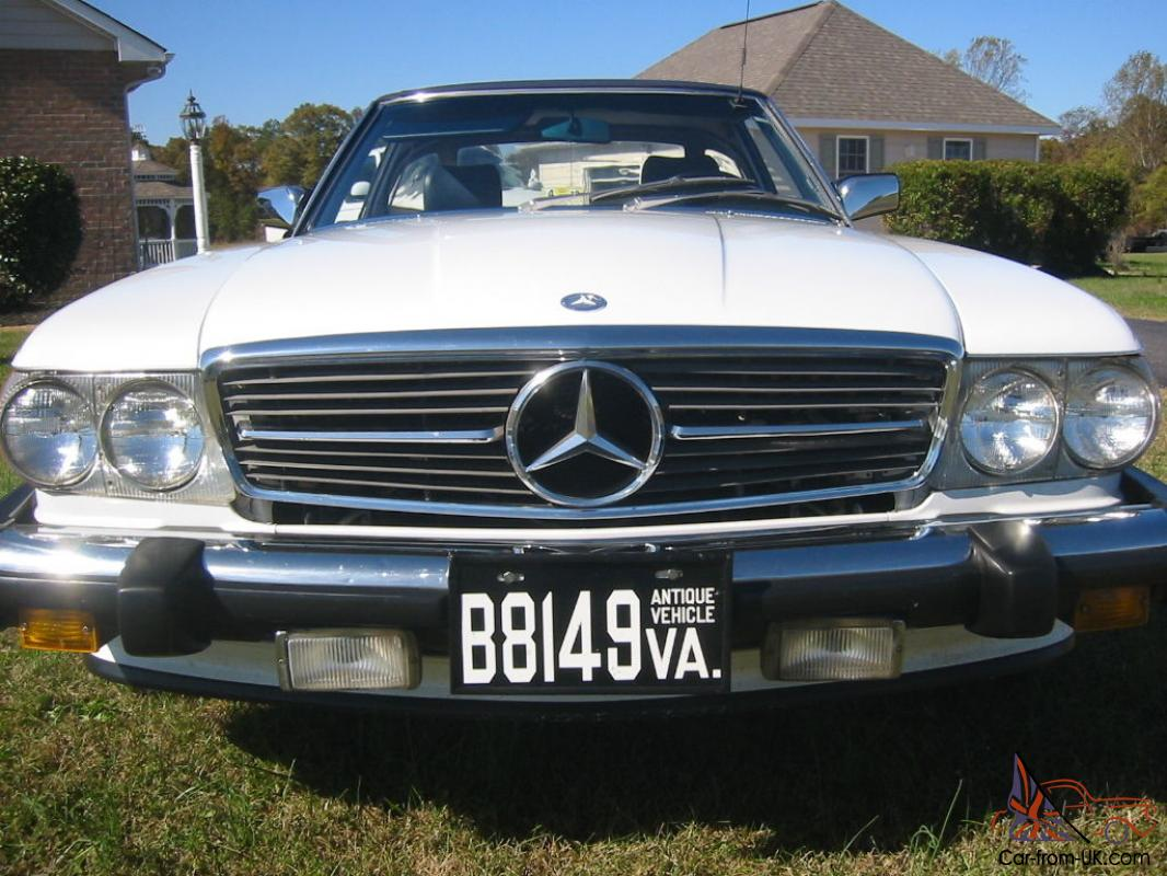1986 classic mercedes 560 sl convertible for Classic mercedes benz for sale ebay