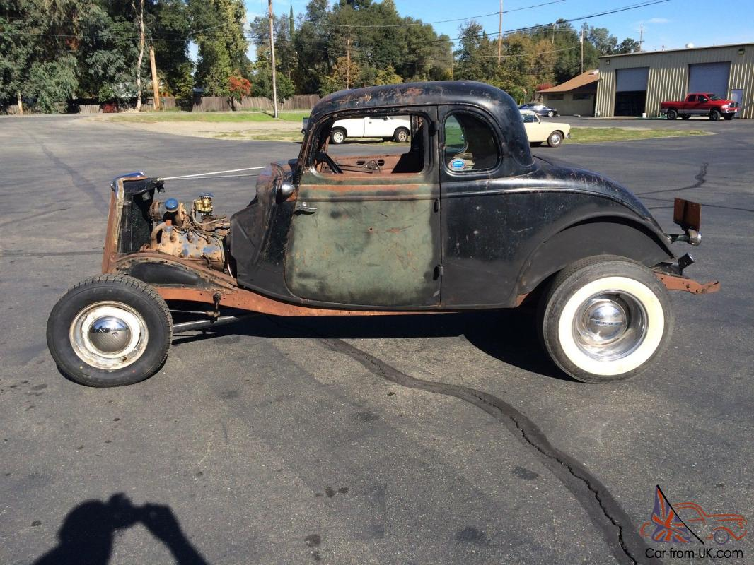 1934 FORD 5 WINDOW COUPE HOT ROD / RAT ROD