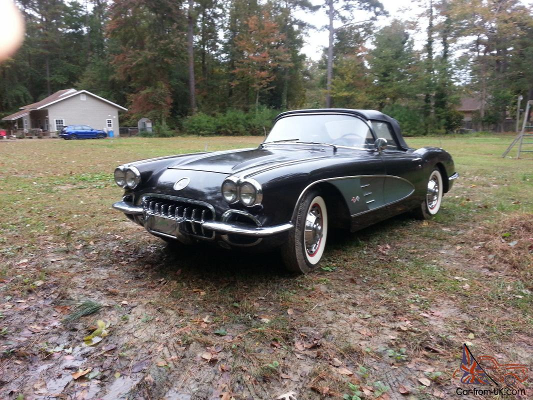 Automatic Cars For Sale Ebay Uk: 1959 CORVETTE Good Running Unrestored Driver Automatic
