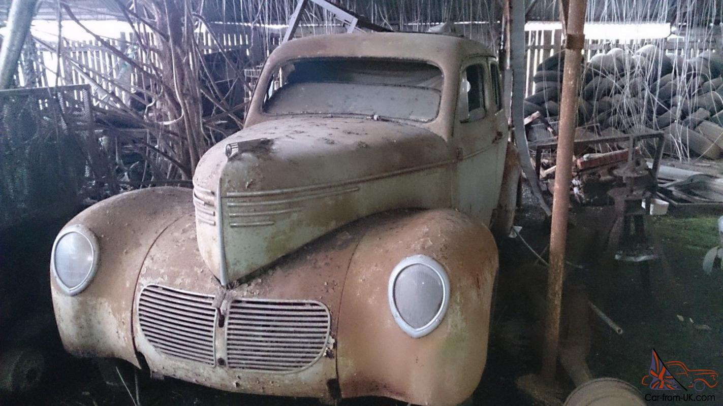 Barn Find 1940S Willys Deluxe Sedan Suit Restoration OR HOT ROD