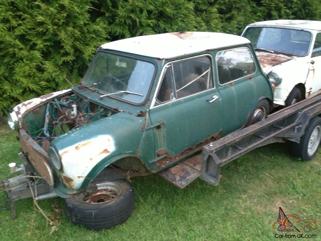 Mini Cooper S Shell Rusted Parts Only Barn Find Told It Was