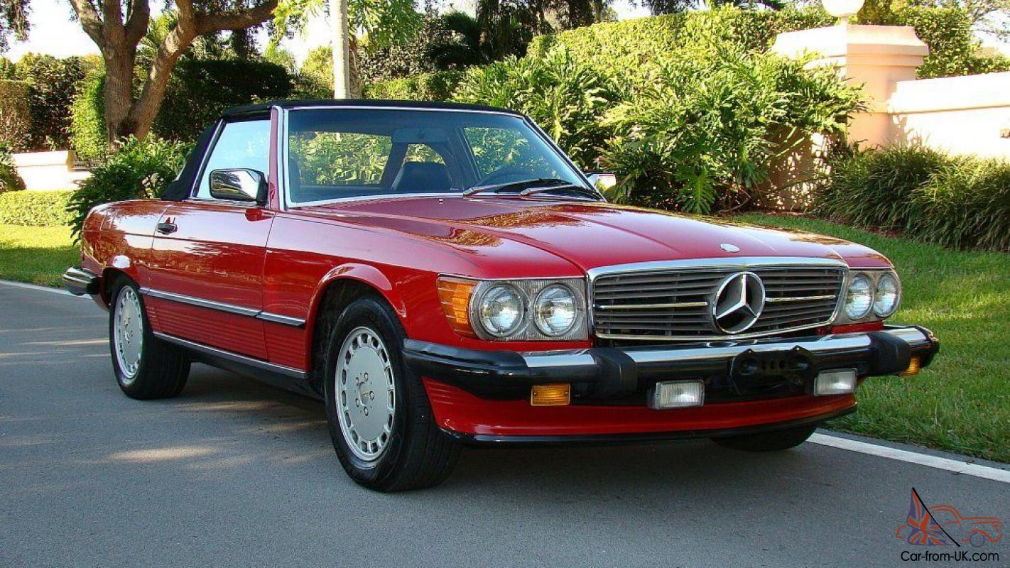 mercedes benz sl class 2 seater 560sl roadster