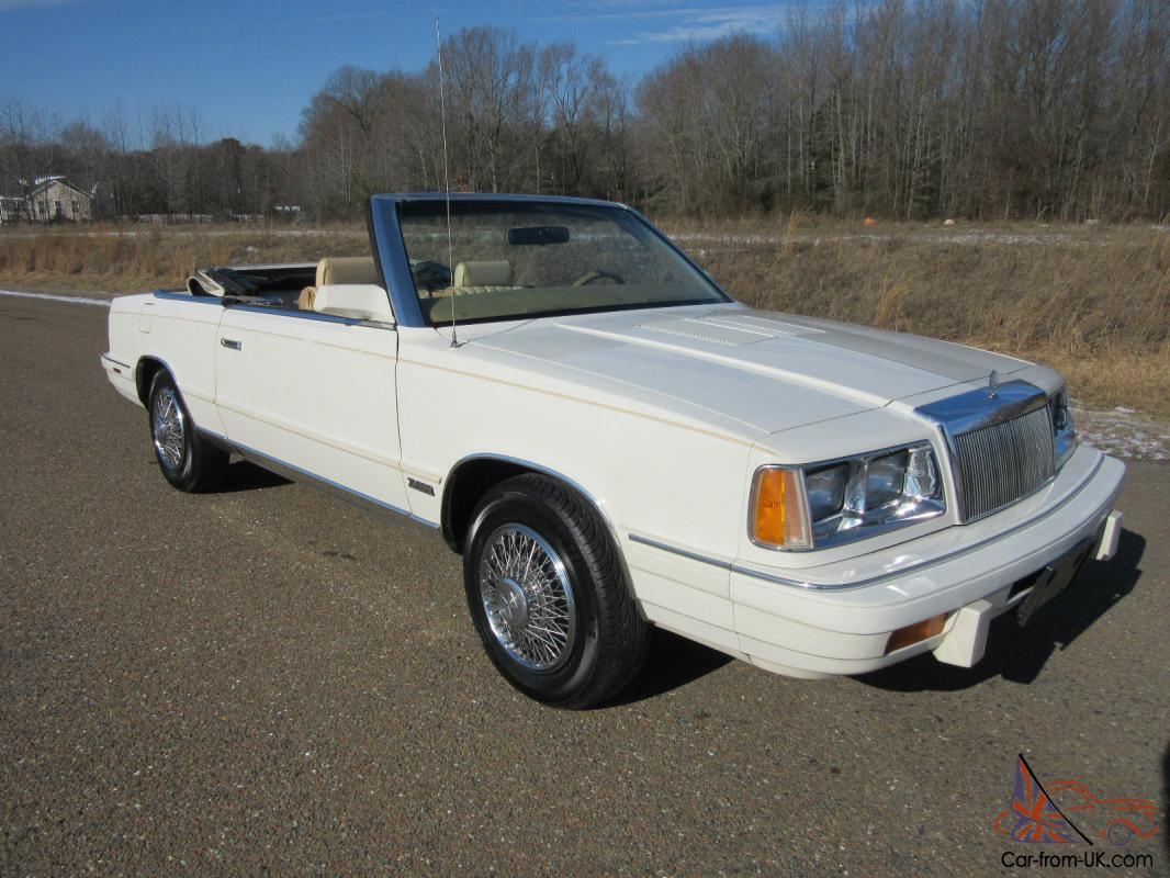 87 Chrysler Lebaron Wiring Diagram Question About A For 1986 Timer 86 1987 Convertible