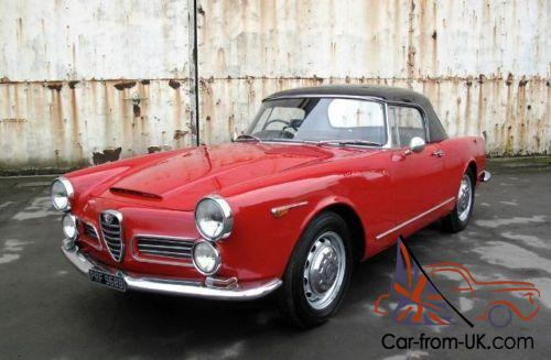 1964 alfa romeo 2600 spider by touring. Black Bedroom Furniture Sets. Home Design Ideas