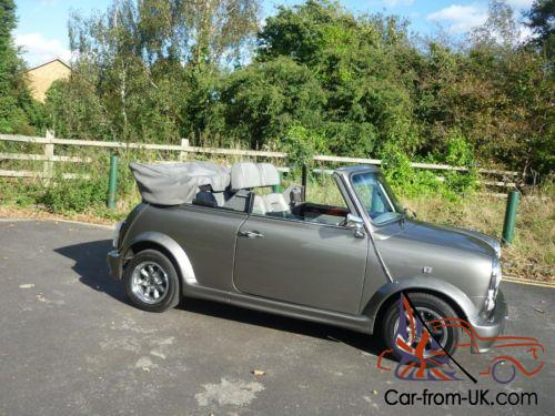 1994 rover mini cabriolet in rare grey with lots of upgrades and 30 000 miles. Black Bedroom Furniture Sets. Home Design Ideas